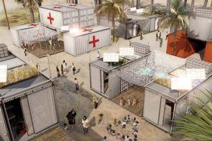 Ingenhoven Architects, 1 Unit, 2011, Entwurf eines mobilen Notfall-Containers mit allen Einrichtung für einen autarken Betrieb