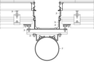 <p>1Solarpaneel</p><p>2Dichtung</p><p>3Bolzen</p><p>4Hauptrinne</p><p>5Dichtungsmittel</p><p>6Vorgespanntes Verbundglas</p><p>7Schwingreifen</p><p></p>