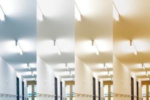 Mit Hilfe verschiedener Leuchten, die ein der Tageszeit entsprechendes Licht abstrahlen, wird den Bewohnern auch innerhalb der Räume ein Gefühl für die Tageszeit vermittelt<br />