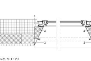 Detailschnitt horizontal, M 1:20