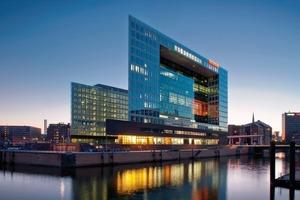 Das Spiegelhochhaus in Hamburg, ausgeführt mit Betonkernaktivierung in Ortbeton, wurde mit dem HafenCity Umweltpreis in Gold ausgezeichnet