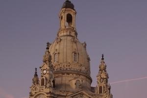 Malerisch schön: die Frauenkirche im Abendlicht<br />