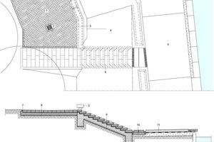 Treppendetail Terrasse, M 1:100