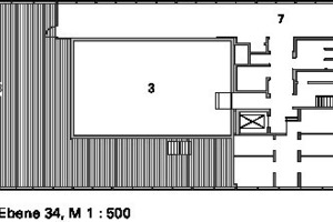 Grundriss Ebene 34, M 1:500