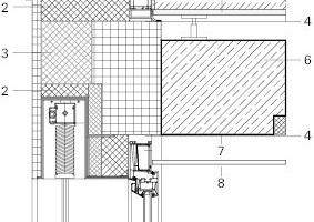 Detailschnitt vertikal, M 1: 20