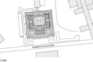 Lageplan, M 1:3500<br />
