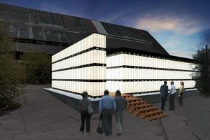 Temporärer Pavillon von Architekturstudierenden für das Kunstfest Weimar<br />