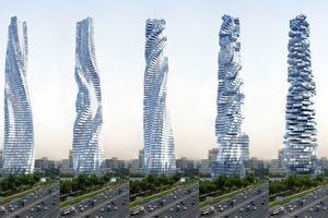 Der Dynamic Tower von David Fisher: Hochhaus mit drehbaren Stockwerken. Bildgalerie, Videos nach dem Sprung