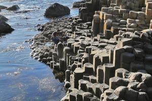 Das UNESCO Weltnaturerbe Giant´s Causeway entstand aus flüssiger Lava, die in 40000, bis zu 11m hohen, gleichförmigen Basaltsteinsäulen erstarrte