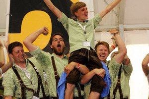 Das Team Ikaros Bavaria der FH Rosenheim auf dem 2. Platz
