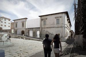 Mit ihrer Arbeit wollen die beiden angehenden Architekten Kaiser und Shen Gebäude in L´Aquila u. a. Erdbeben sicher machen