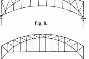 Historische Knotenpunktausführung mit vier angeschlossenen Stäben