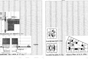 Fassadendetail vertikal Schnitt, M 1:12,5
