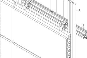 """<div class=""""10.6 Bildunterschrift"""">Isometrie der Alphaton-Ziegel-Fassade mit Aluminium-Unterkonstruktion</div>"""