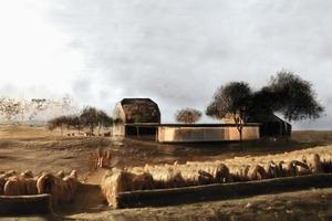 Insel-Idyll, vom Architekten gemalt: Zukunft auf der Insel Ufenau<br />