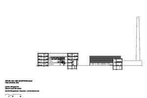 Schnitt Bürogebäude