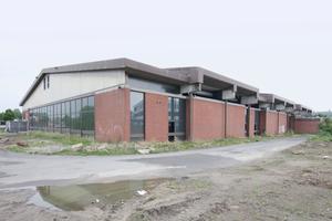 Ort der Aufführung: die vor einem Jahr geschlossene Eishalle am Münsteraner Architektur-/Design-Campus
