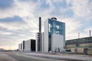 Das Kraftwerk mit neuer Hülle