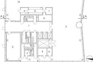 Grundriss Erdgeschoss, M 1 : 500