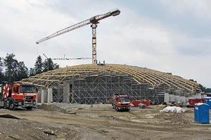Parametrisches Lehrgerüst: Die komplexe Form des zweifach gekrümmten Daches des Elefantenhauses sollte auf einem Spantengerüst errichtet werden