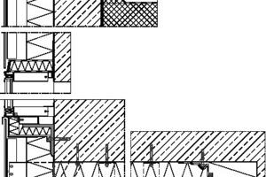 """<div class=""""5.6 Bildunterschrift"""">Fassadenschnitt, M 1:17,5</div>"""