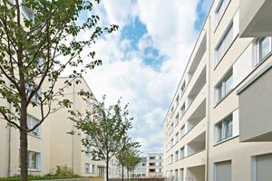Abb. 6: Wohnquartier in Stuttgart Bad Cannstatt, Architekten: Ackermann + Raff, Stuttgart Bauherr: Siedlungswerk GmbH, Stuttgart