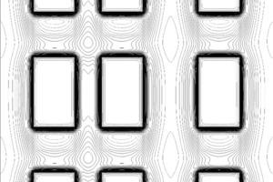Fassadenausschnitt mit Isothermenverlauf