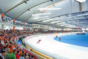 """Die ca. 200 x 90m große Halle ist als in sich geschlossenes Bauwerk mit einer im Innenraum stützenfreien Konstruktion geplant.<br />Das Stadion wurde als """"World's Best Sports Building 2011"""" ausgezeichnet<br />"""