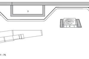 Grundriss Pflanzwand Eingangsbereich, M 1:75
