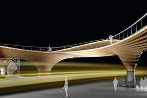Brücke Margaretengürtel, Wien,&nbsp;  Architekt: Martin Knight Architects Wettbewerb 2010<br />