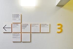 Das hauseigene Leitsystem, entworfen von oblik / visuelle kommunikation aus Bremen, führt die Besucher durch das RKK
