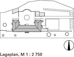 Lageplan, M 1:2750