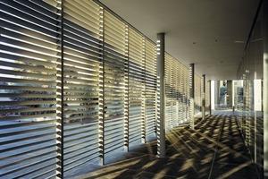 Die Querschnittsgestaltung der von Moeding speziell für dieses Projekt als Sonnenschutz entwickelten Ziegellamellen berücksichtigt den um die Mittagszeit fast senkrechten Sonnenstand<br />