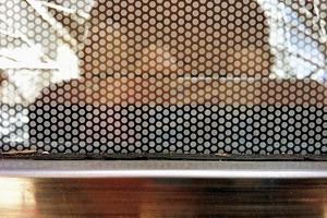 Nahansicht der Glasbeschaffenheit
