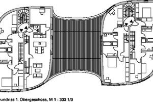 Grundriss 1. Obergeschoss, M 1:333<sup>1</sup>/3