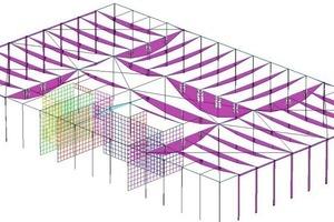 Abb. 7: Finite-Elemente-Modell - Momente im 4. OG<br />