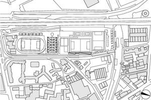 Lageplan, M 1 : 17500