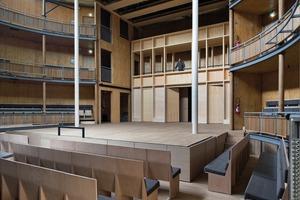 Das Theater ist das erste öffentliche Gebäude Frankreichs dieser Größenordnung mit einer natürlichen Belüftung. Ein Kamineffekt belüftet das Gebäude – warme Luft steigt zur<br />Decke, kühle Luft strömt unten nach