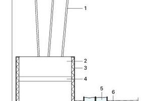 Detail Bambus Trog Innenhof, M 1:33 <sup>1</sup>/3<br />