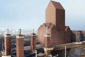 Das geplante Landesarchiv am Binnenhafen Duisburgs<br />