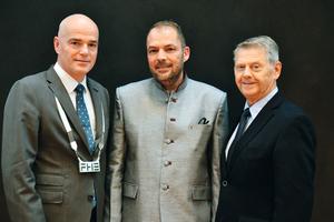 Preisträger des Lehrpreises 2016: Prof. Gerhard Julius Meyer (m.), mit Rektor Prof. Dr. Volker Zerbe (l.) und Fördervereinsvorsitzenden Wolfgang Reisen