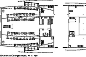 Grundriss Mezza, M 1:750