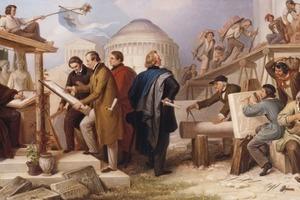Der Architekt - Baumeister und Organisator - Wilhelm von Kaulbach, Die von König Ludwig I. mit der Ausführung monumentaler Bauwerke betraut gewesenen Künstler, um 1850