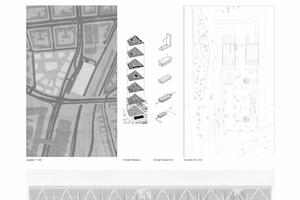 """Das Gebäude ist nicht nur ZOB - über dem Terminalbereich """"schwebt"""" ein zweiter Baukörper, in dem eine Bibliothek und eine Mediathek untergebracht sind"""