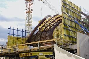 Stahlskelett der Verbundkonstruktion