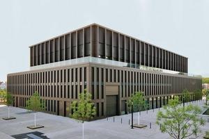 """Anstatt einer Kalt-Warm-Fassade wurde auf Vorschlag des Metallbauers eine Warmfassade als """"durchgehende Membran"""" ausgeführt"""