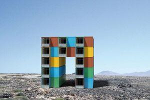 Uwe Harzer, Wohnbogen, 2010 Entwurf für ein Wohngebäude mit flexiblen Wohnungsgrößen