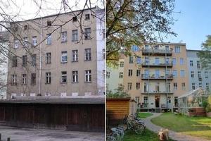 Vorher, Nachher (Fassadensanierung der besonderen Art)