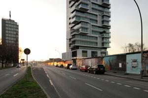 Living Levels, ein Wohnturm Mühlenstraße 60, Berlin (Westansicht)
