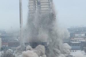 Es ist das in Europa höchste Haus, das jemals gepsrengt wurde